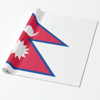 Nepal Flag Wrapping Paper