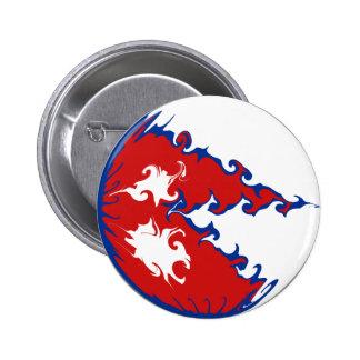 Nepal Gnarly Flag 6 Cm Round Badge
