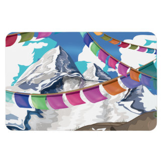 Nepal Himalayan Prayer Flags Travel poster Magnet