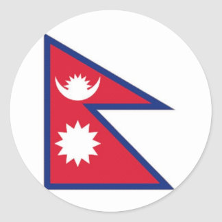 Nepal National Flag Classic Round Sticker