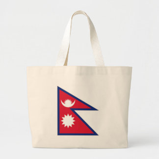 Nepal National Flag Jumbo Tote Bag