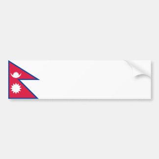 Nepal/Nepalese Flag Bumper Sticker