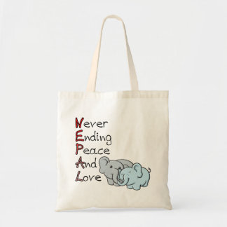 Nepal - Never Ending Peace And Love Elephants Bag