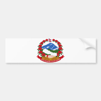 Nepal Official Coat Of Arms Heraldry Symbol Bumper Sticker