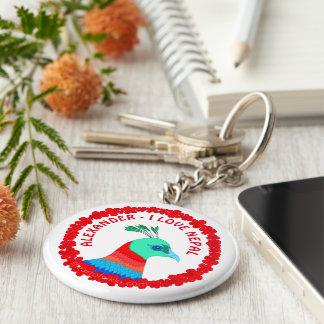 Nepal Pheasant Symbol Personalized I Love Nepal Key Ring