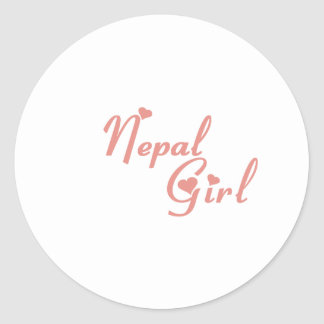 Nepal Round Sticker