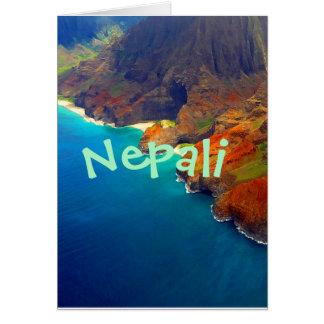 Nepali Coast Kauai Hawaii Card