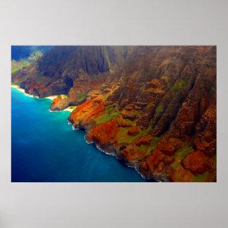 Nepali Coast Kauai Hawaii Poster