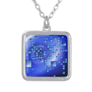 Nepheros V1 - planet square Silver Plated Necklace
