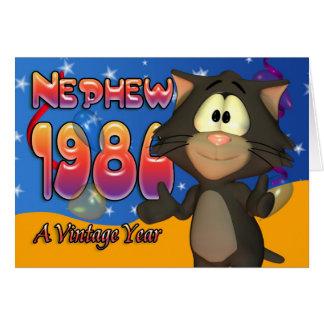 Nephew - 30th Birthday Card Cat 1980