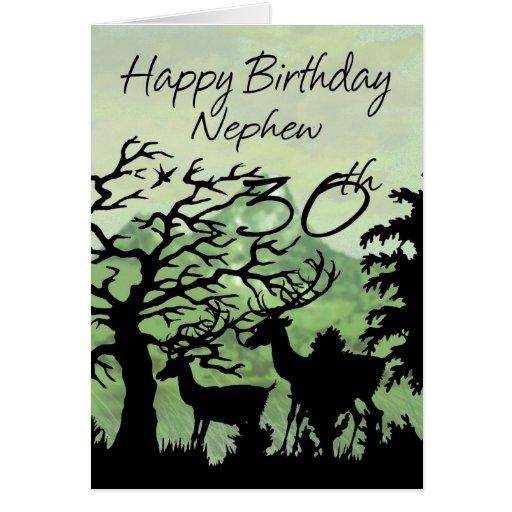 Birthday Cards Nephew ~ Nephew th birthday card woodland zazzle
