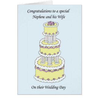 Nephew and wife Wedding Congratulations. Card
