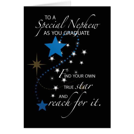 Nephew Graduation Star Card
