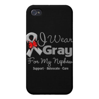 Nephew - Gray Ribbon Awareness Cover For iPhone 4