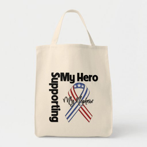 Nephew - Military Supporting My Hero Tote Bags