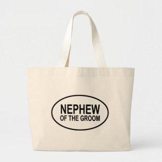 Nephew of the Groom Wedding Oval Jumbo Tote Bag