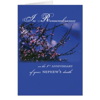 Nephew, Remembrance 1st Anniversary Card