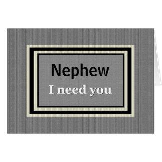 NEPHEW Usher Wedding Invitation - Silver and Black