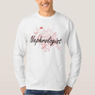 Nephrologist Artistic Job Design with Butterflies T-Shirt