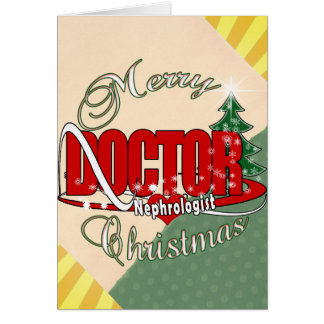 NEPHROLOGIST DOCTOR CHRISTMAS CARD