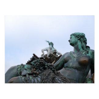 Neptunbrunnen - Neptune Fountain - Berlin Postcard