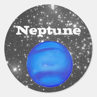 Neptune Astronomy Space Blue Round Sticker