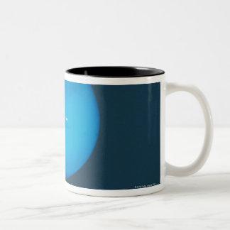 Neptune, dynamic blue-green atmosphere Two-Tone coffee mug
