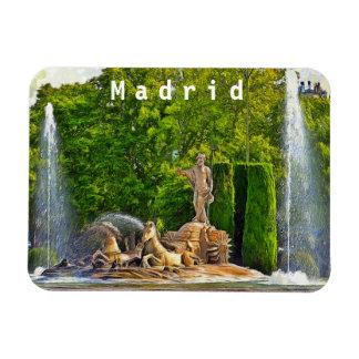 Neptune fountain in Madrid. Magnet