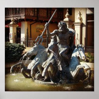 Neptune Fountain Poster