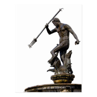 Neptune God of the Sea Statue Postcard