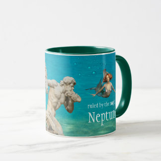 Neptune Mermaid Pisces Personalized Mug