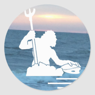 Neptune on the Sea Sticker