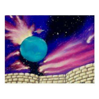 Neptune Space Universe Sky Stars Scifi Postcard