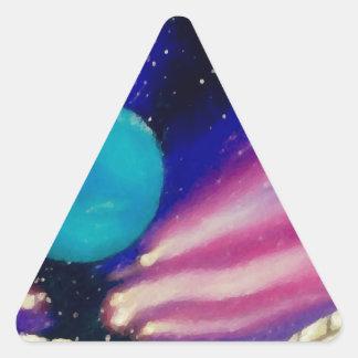 Neptune Space Universe Sky Stars Scifi Triangle Sticker