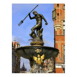 Neptune Statue Postcard