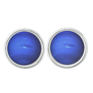 Neptune Surface Photo Blue Cuff Links