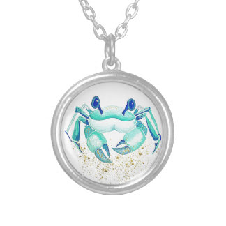 Neptune's Crab Silver Plated Necklace
