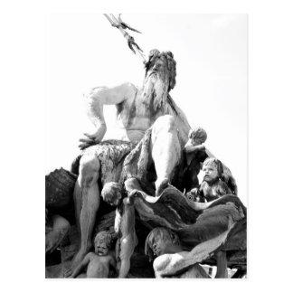 Neptune's fountain in Berlin, Germany Postcard