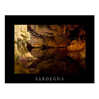 Neptune's Grotto, Sardinia black postcard