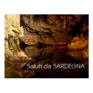 Neptune's Grotto, Sardinia text postcard
