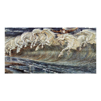 Neptune'S Horses By Crane Walter Personalized Photo Card