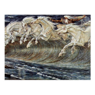 Neptune'S Horses By Crane Walter Postcard