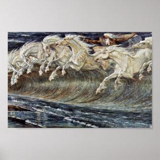Neptune'S Horses By Crane Walter Poster