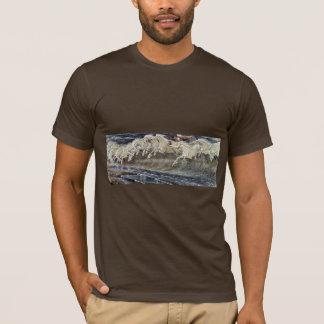 Neptune'S Horses By Crane Walter T-Shirt