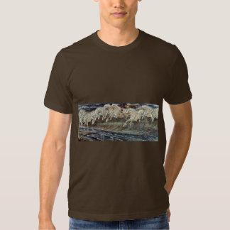 Neptune'S Horses By Crane Walter Tee Shirts