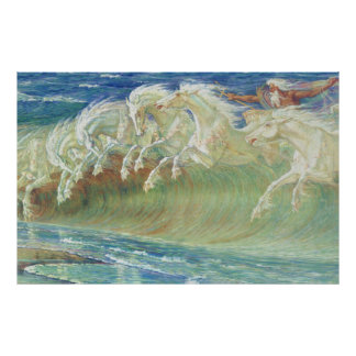 Neptune's Horses by Walter Crane Poster