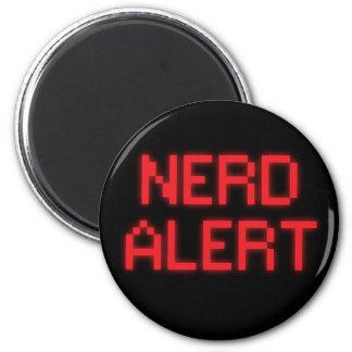 Nerd Alert 6 Cm Round Magnet