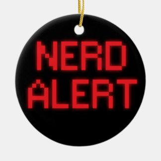 Nerd Alert Ceramic Ornament