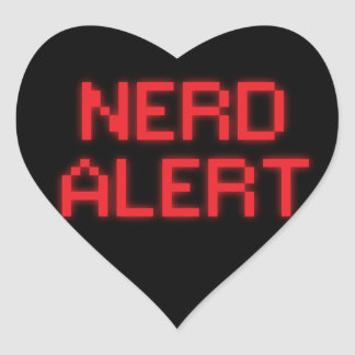Nerd Alert Heart Sticker