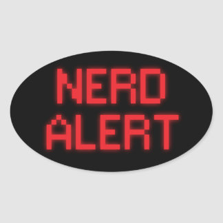 Nerd Alert Oval Sticker